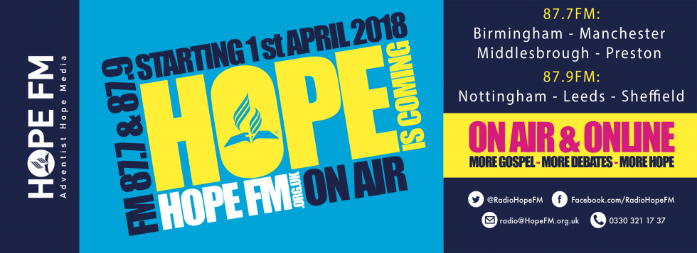 Hope FM 87.7 & 87.9 1st April 2018