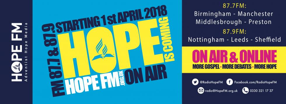 Hope FM 87.7 & 87.9 1st April 2018